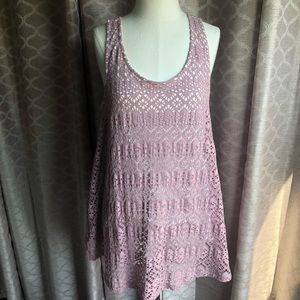 Anthropologie patterned tank top